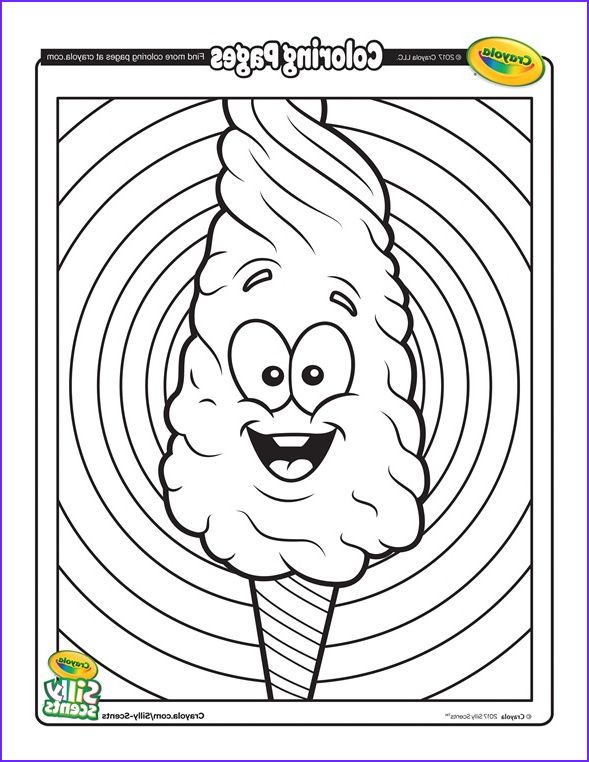 Silly Scents Cotton Candy Coloring Page Crayola Coloring Pages Candy Coloring Pages Witch Coloring Pages