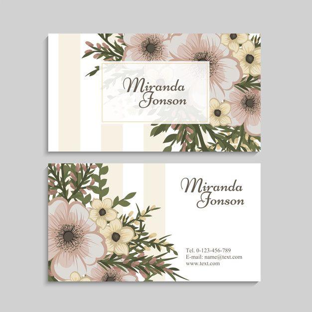 Download Vintage Flower Business Card Template For Free Graphic Design Business Card Flower Business Business Card Design
