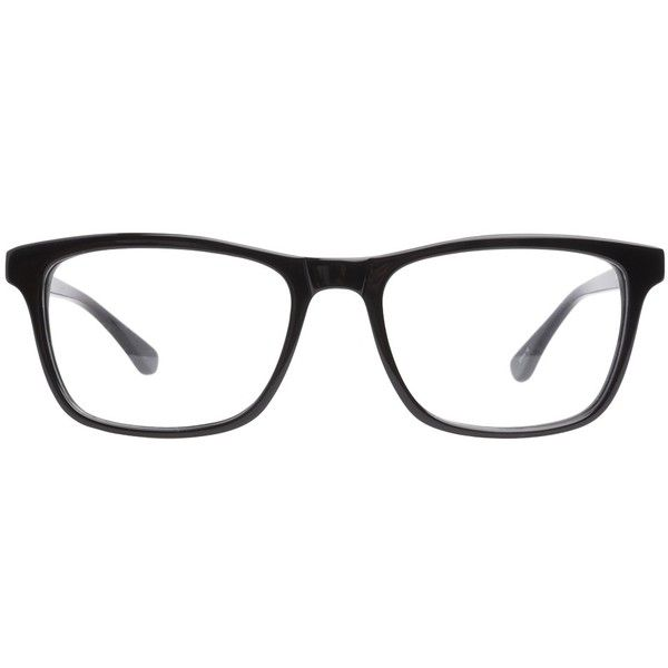 Joseph Marc 4114 Black ($98) ❤ liked on Polyvore featuring accessories, eyewear, eyeglasses, glasses, sunglasses, jewelry, wayfarer eye glasses, wayfarer style glasses, wayfarer glasses and black eyewear