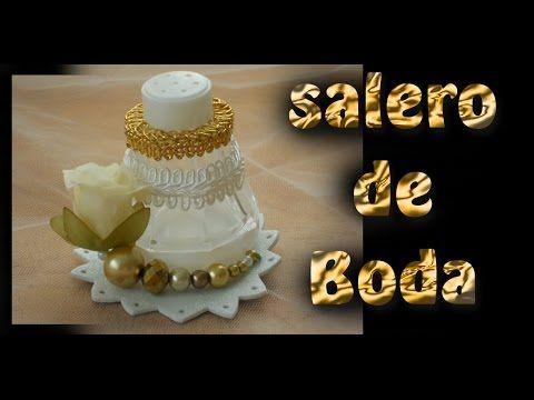 Cómo hacer saleros para boda Sencillos / REY SOL / TUTORIAL Inerya viris - YouTube