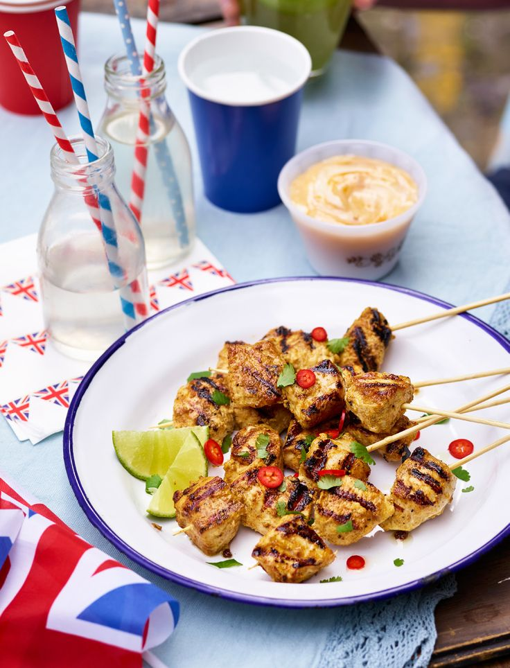 Coronation Chicken Skewers with Mango & Lime Mayo | Asda Good Living