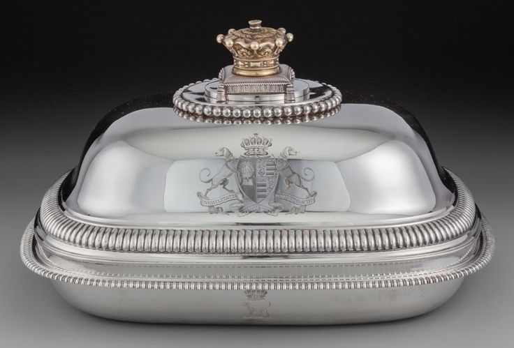 A Paul Storr Partial Gilt Silver Covered Serving Dish, Bearing Arms of Robert Grosvenor, Marquess of Westminster, London, England, circa 1804