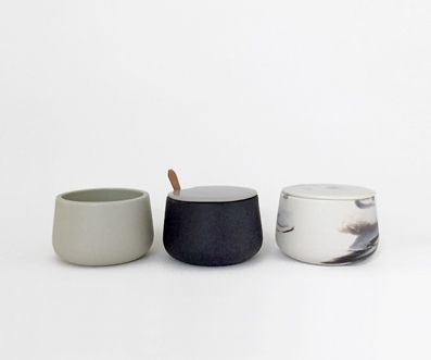Tableware, small cups. Design and production by Laura Itkonen