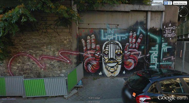 "In light, trust me. Rue de Thionville, 75019 Paris 48°53'23.23""N  2°23'4.39""E Street Art on Google Street View"