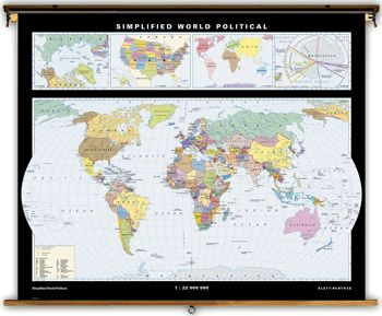 Simplified World Political Map