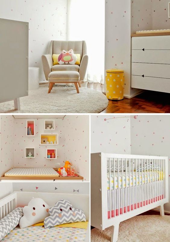 347 best BEBES images on Pinterest   Child room, Baby room and ...