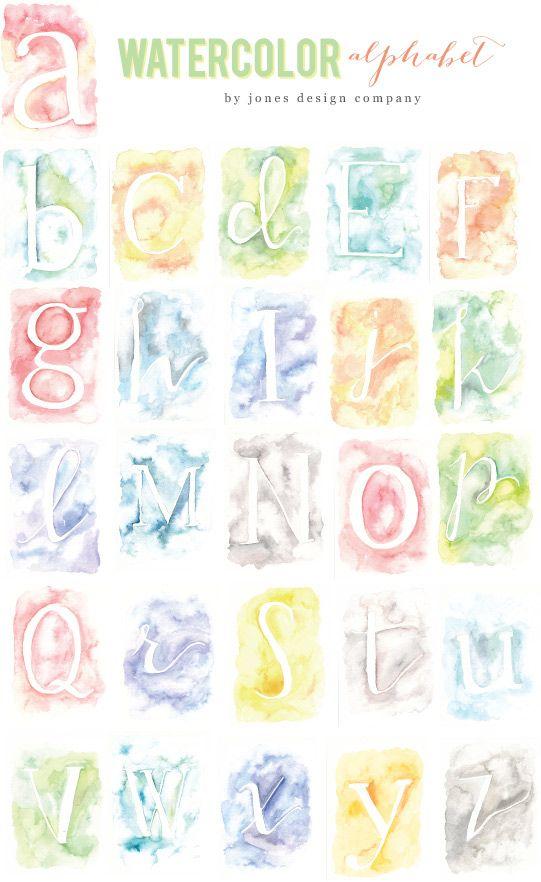 Watercolor Alphabet Collection