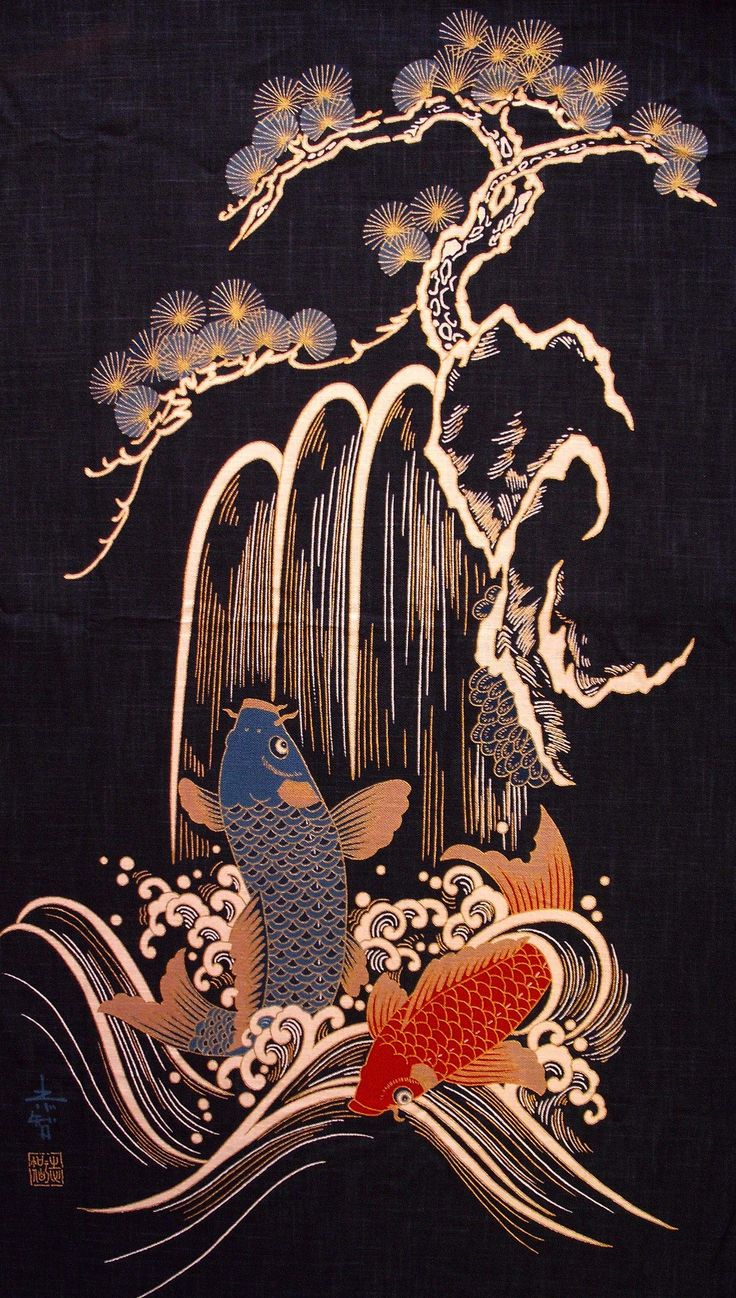 Panels can be a bit pricey, but would make very interesting One Block Wonder projects... http://www.fabricandart.com/web_images/Japanese_fabric_panels/Two_koi_pines.jpg