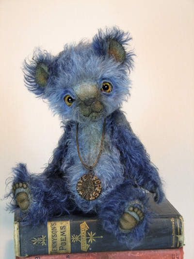 Timothy, the Blue Bear by White Forest Bears. My Grands would say he's kind of creepy but hey, he's on a book of Tennyson poems!