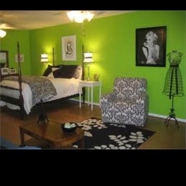 Lime Green Black And White Bedroom Ideas Pop Art Bedroom Ideas Bedroom Door Decorations For Girls Teenage Bedroom Design Tumblr: 45 Best Lime Green & Black Images On Pinterest