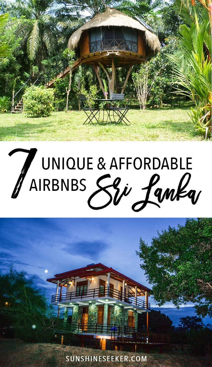 ♢ $35 credit ♢ 7 unique and affordable Airbnbs in Sri Lanka - From treehouses surrounded by nature to cabins in the National Park