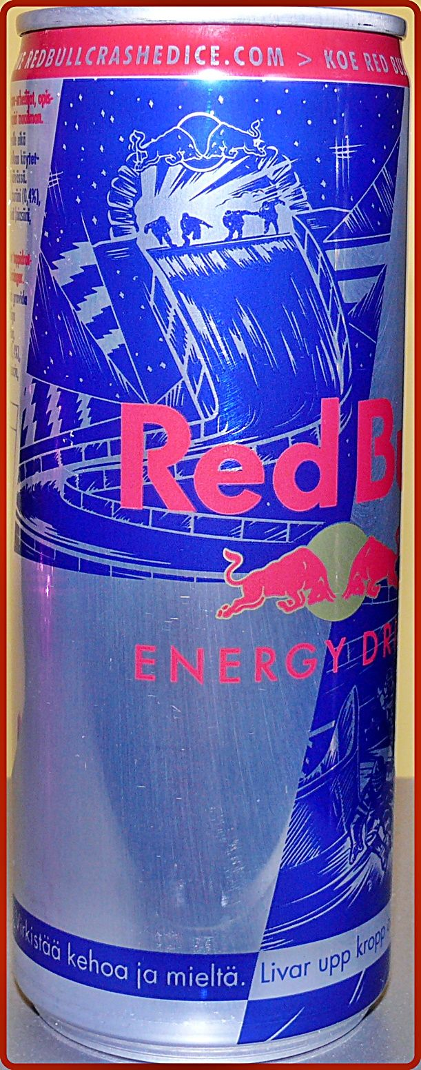 250ml Red Bull Ice Crashed Edition from Finland