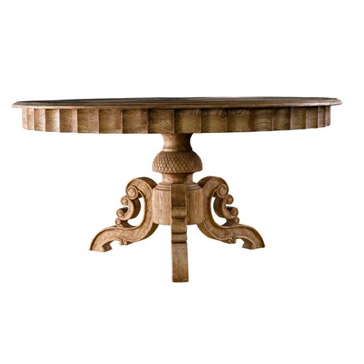 Rustic Finish On A Formal Dining Table Is A Perfect Marriage! After All  Opposites Attract