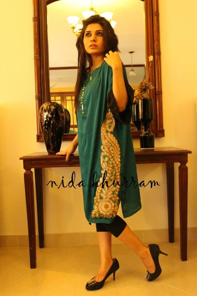 Nida Khurram Latest Summer Dresses 2014 For Girls (6)