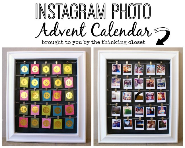 Instagram Photo Advent Calendar!  Such a fun way to remember highlights from the year as you countdown the days till Christmas.
