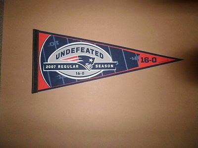 NFL New England Patriots 2007 UNDEFEATED 16-0 PENNANT
