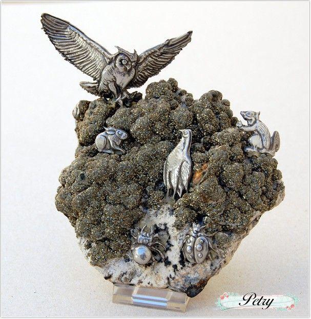 Composición animales estaño. www.petry.es