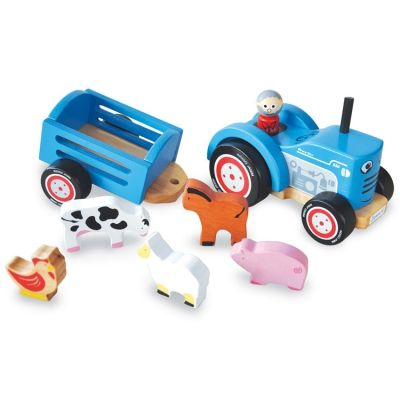 Traktor-Ted-aus-Holz