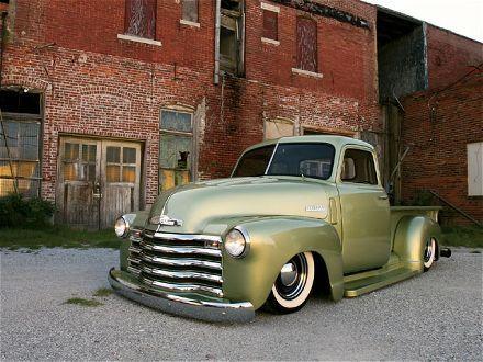 1950 Chevrolet pickup truck, slammed.