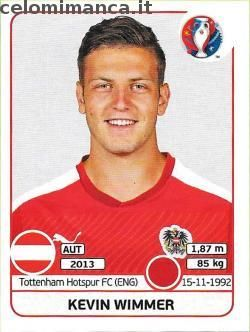 UEFA EURO 2016™ Official Sticker Album: Fronte Figurina n. 635 Kevin Wimmer