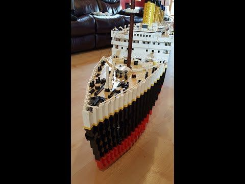 Large Lego Titanic with complete interior!