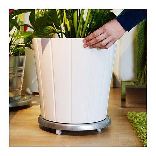 Socker plant mover in outdoor galvanised 31 cm the plant - Ikea macetas exterior ...