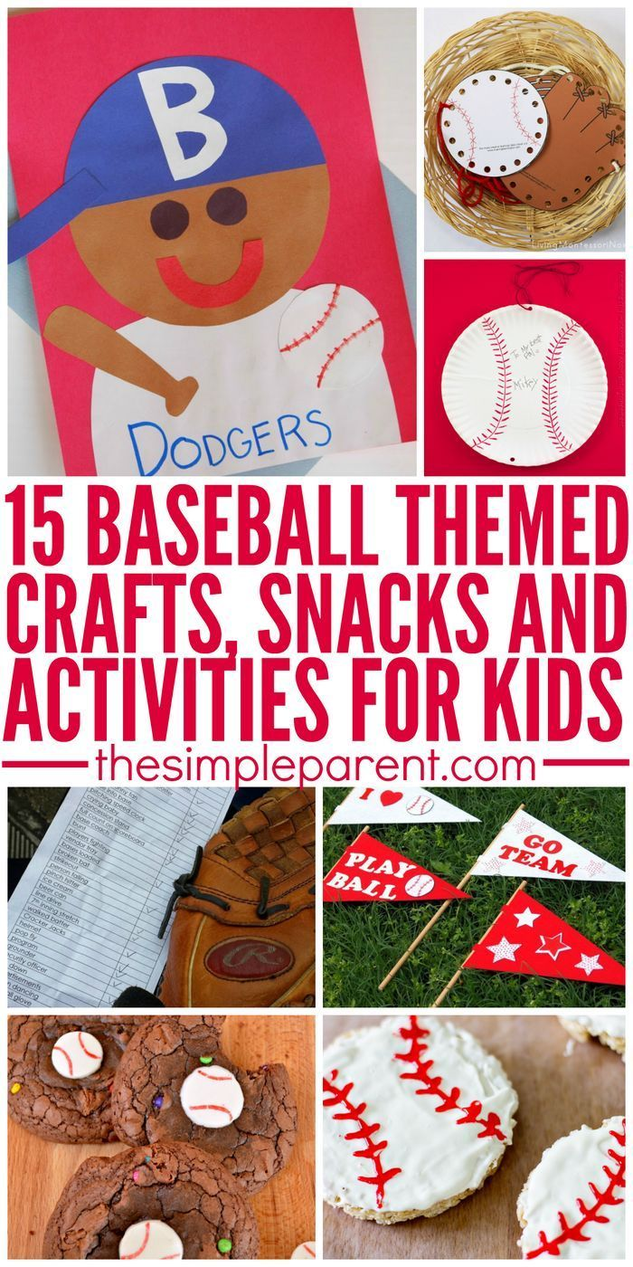 Let's Play Ball! Celebrate America's past time with these fun baseball crafts and activities for kids!