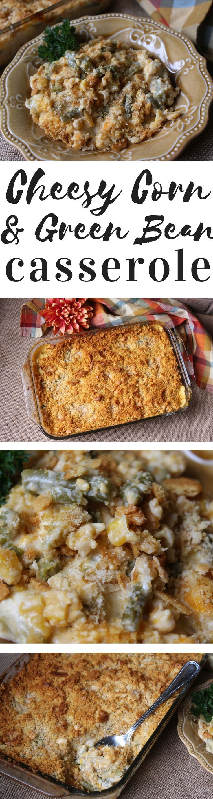 The classic corn casserole meets your favorite green bean casserole to make this combo casserole your newest/yummiest/easiest addition to your Thanksgiving table!
