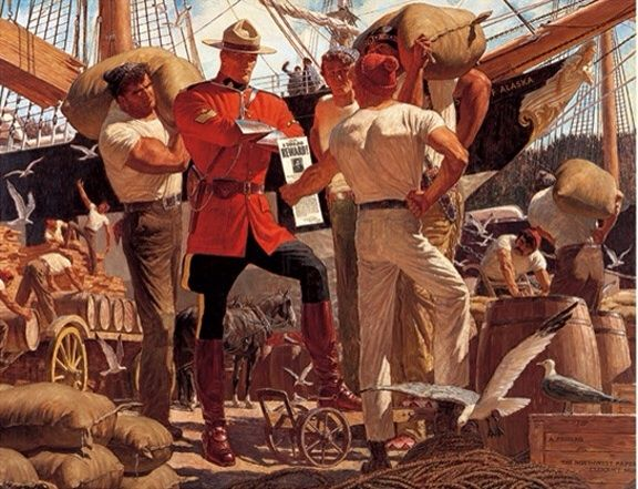 One of Arnold Friberg's great RCMP paintings.