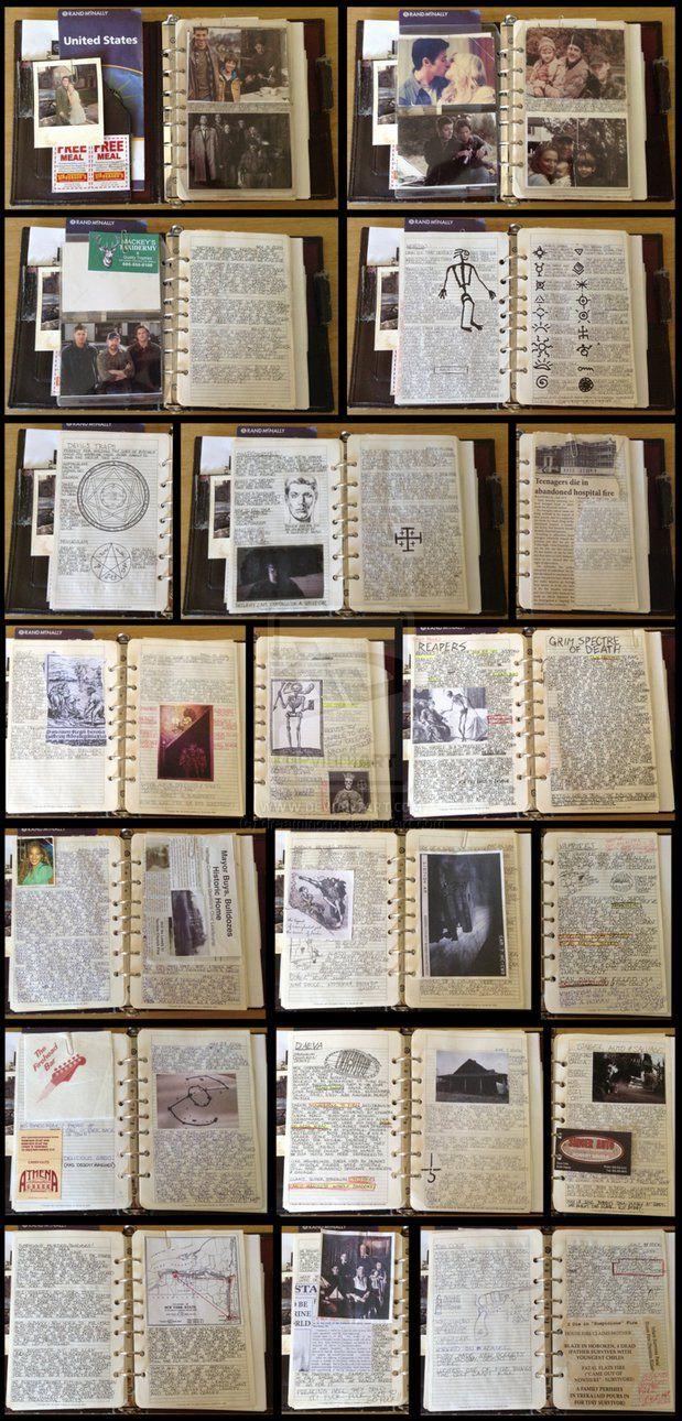 Dean Winchester's Hunter's Journal WIP by dreaminpng on DeviantArt