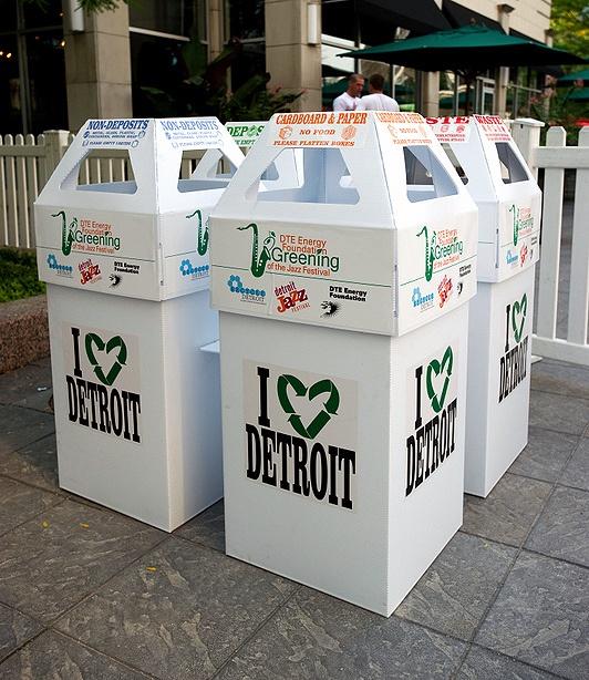 Printed Recycling Bins by BrittenInc, via Flickr