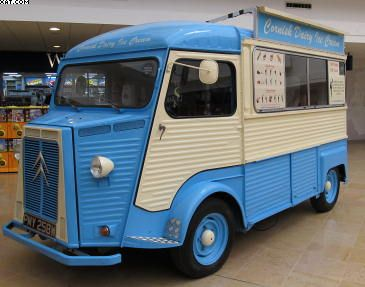Another Old Citroen Van Converted Into An English Ice Cream
