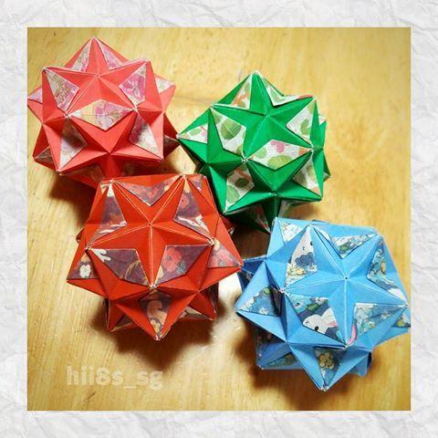 クリスマス 折り紙:折り紙 くす玉 簡単-jp.pinterest.com
