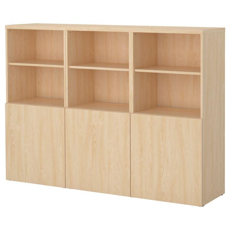 BESTÅ Storage Combination With Doors - Birch Effect - IKEA