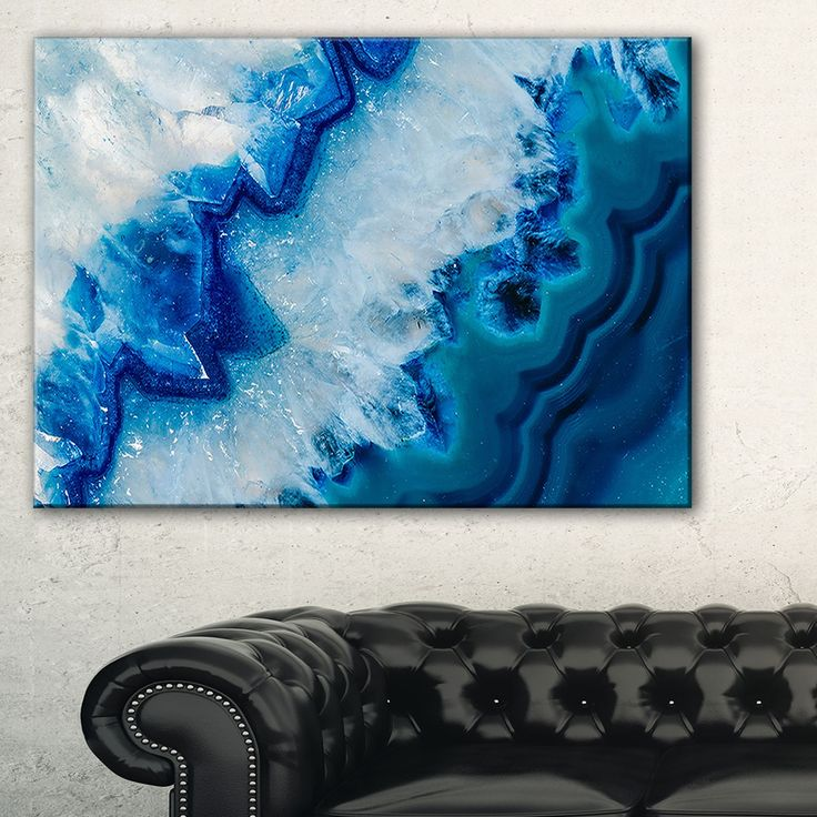 geode slice macro abstract digital art canvas print by design art