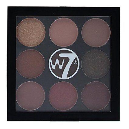 w7 the naughty nine shades of eye colour eyeshadow palette
