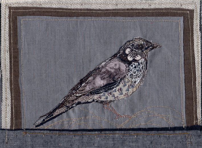 A Mistle Thrush of silk and linen: Michelle Holmes