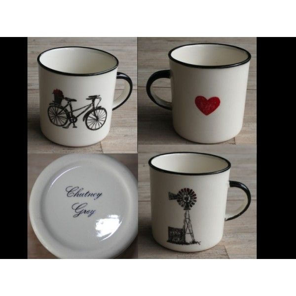 2 Mug´s Farm Range Camp - Windmill & Bicycle Set Special (Black Set) R180,00 Farm Range Camp Mug´s Windmill & Bicycle Handmade Ceramic Mugs Colour: Black and Red Heart 2 x 250ml Ceramic Mug Dishwasher and Microwave safe Call us: +27 (0) 861999938 Chutney Grey - Cape Town