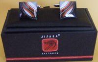 Jijaka design Cufflinks - Square  Chrome plated square base with cufflink box dimensions:  1.5cm x 1.5cm made in China  Price:  $18.00 Code:  CUFF-JIJS