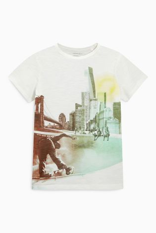 Buy Multi Skate And Stripe T-Shirts Two Pack (3-16yrs) from the Next UK online shop