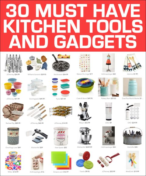 30 kitchen tools and gadgets