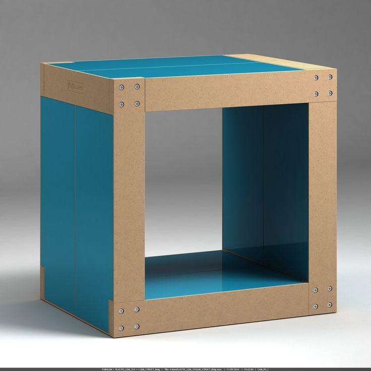 Tabouret Table D 39 Appoint Bleu P Trole Structure Naturelle
