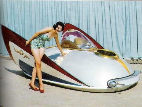 "50s spaceship perhaps a Canadian ""Avreo"" I heard about it on Coast to Coast : http://www.coasttocoastam.com/"