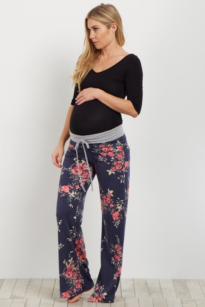 Add some fun to your loungewear with these printed pjs. A drawstring waistband for customized comfort and a pretty floral print to make bedtime a beautiful occasion. Cozy up in these this winter and pair with a basic maternity cami for a good night's sleep.