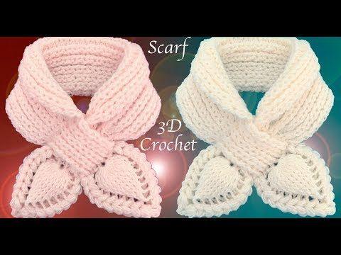 Crochê 3D deixa o ponto elástico do lenço