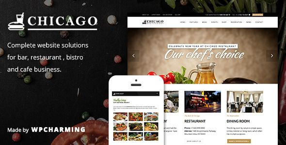 Chicago is so versatile that you can use it for everything you want (corporate website, portfolio) The layout looks beautiful at any size,