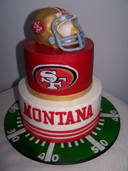 Love the cake board...and the NINERS!