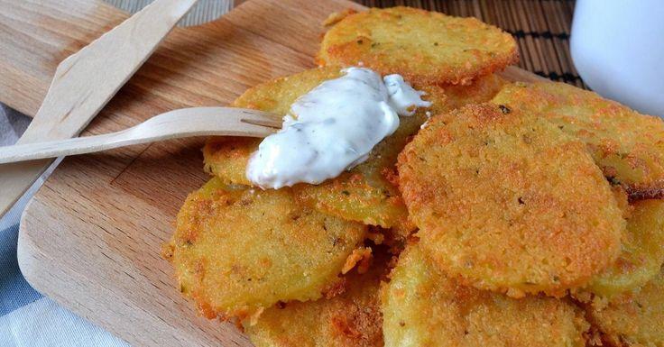 Patatas crujientes con queso