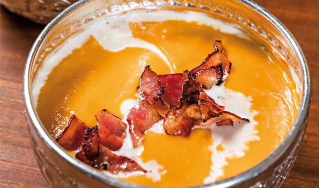 Uma sopa quente, bem reconfortante e saciante.