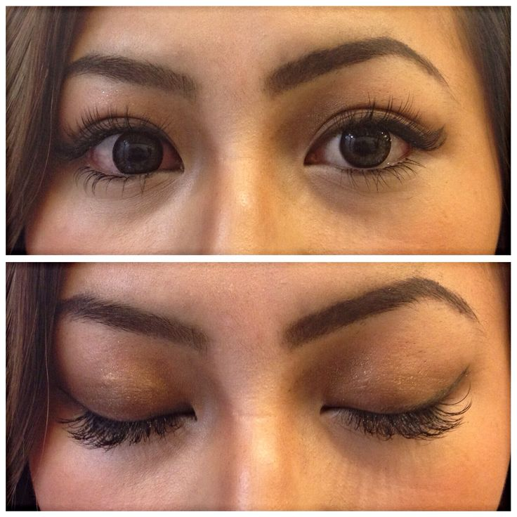 Top AND bottom lash extensions done by Tomo.